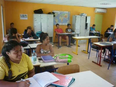 Salle climatisée pour une classe